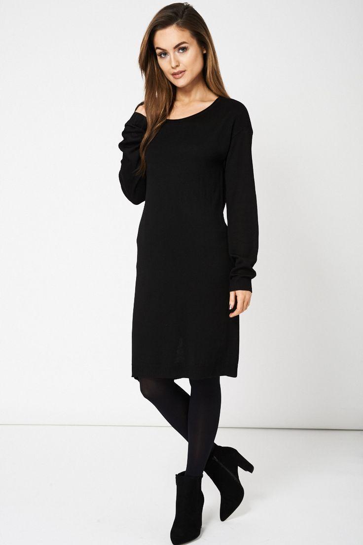 Long black 60s dress yoga