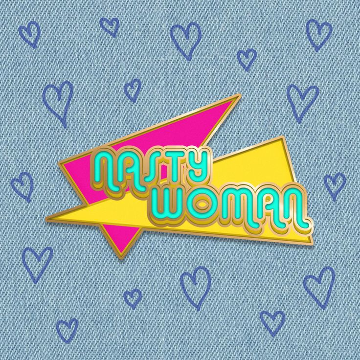 "Nasty Woman 1"" Hard Enamel Pin *PRE-ORDER* by MAGICSOCIETYstore on Etsy https://www.etsy.com/listing/473205268/nasty-woman-1-hard-enamel-pin-pre-order"