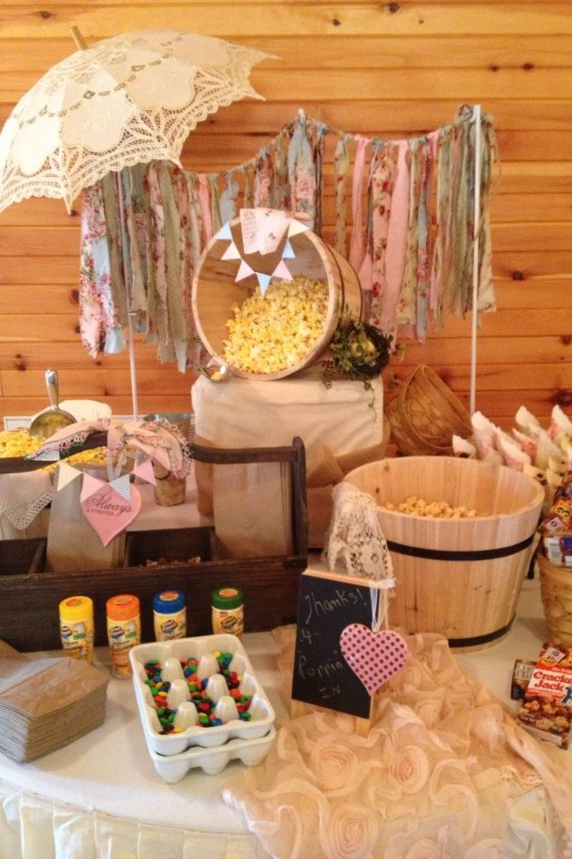 Popcorn Bar well... I pretty much ADORE everything about this!!! - Go BIG at home! #popcorn
