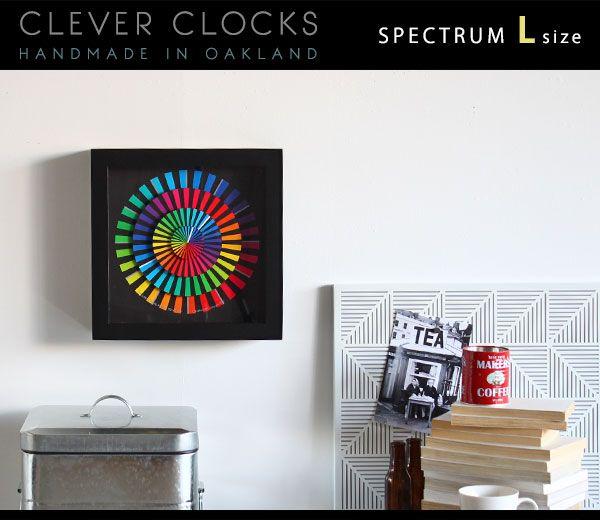 壁掛け時計 モダンなお部屋に芸術的なウォールクロックを 置き時計 128197 Clever Clocks スペクトラム L 送料無料 | インテリアショップ arne interior