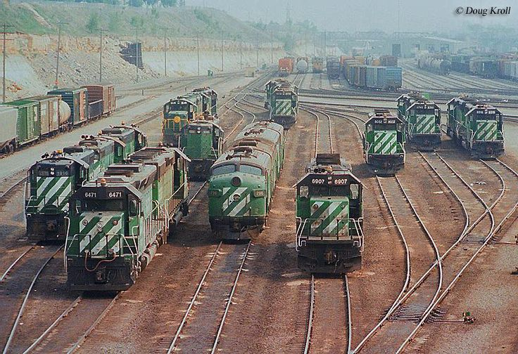 The Burlington Northern was the West's first mega-railroad when it was formed in 1970 serving such cities as Chicago, Seattle, and Dallas.