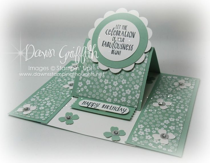 Center Panel Easel card with Dawn