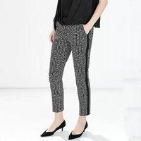 KZ559 Новая Мода женская Элегантный мило Геометрические брюки печати уютные trouse молнии карманы свободные брюки случайные бренд дизайнер брюки