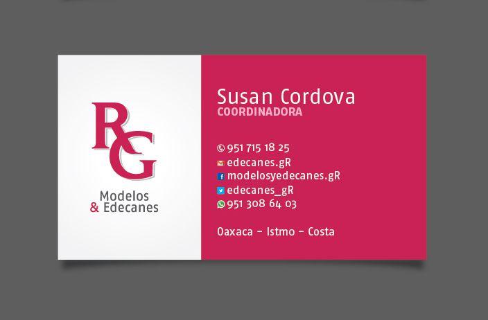 Dise o de logotipo y tarjetas de presentaci n rg modelos for Disenos para tarjetas