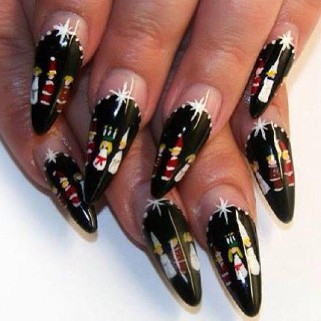 45 Best Winter Christmas Nail Art Images On Pinterest Holiday