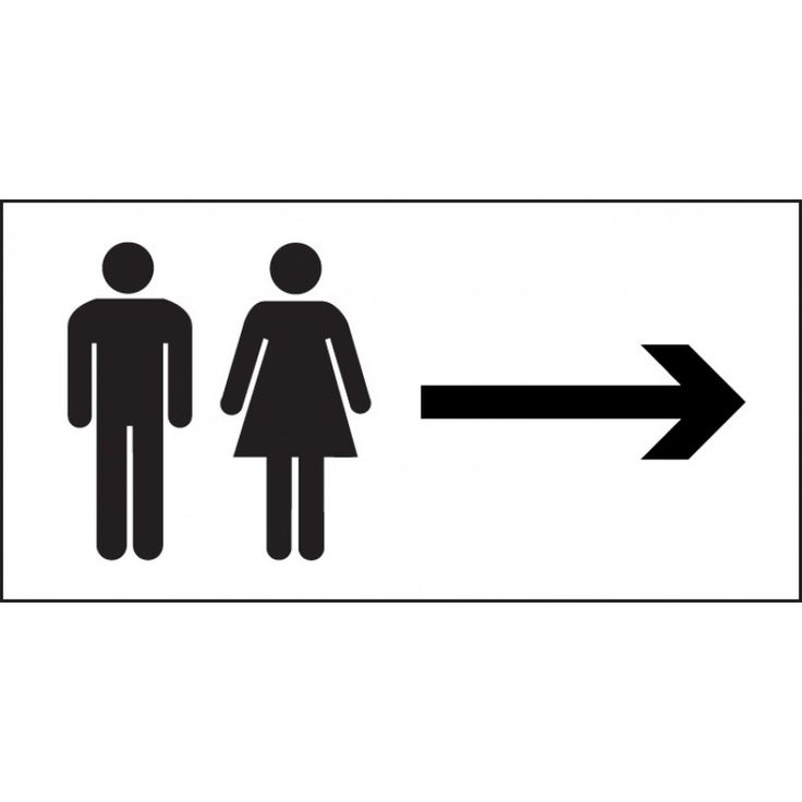 Man and ladies toilet symbol sign with arrow right   300mm x 150mm   Self  Adhesive. Best 25  Toilet symbol ideas on Pinterest   Toilet logo  Toilet