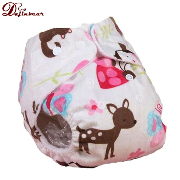 Soft Baby Kids Adjustable Reusable Nappies Cartoon Pocket Diaper Washable Cloth Diapers Training Pants Environmentally Nappy