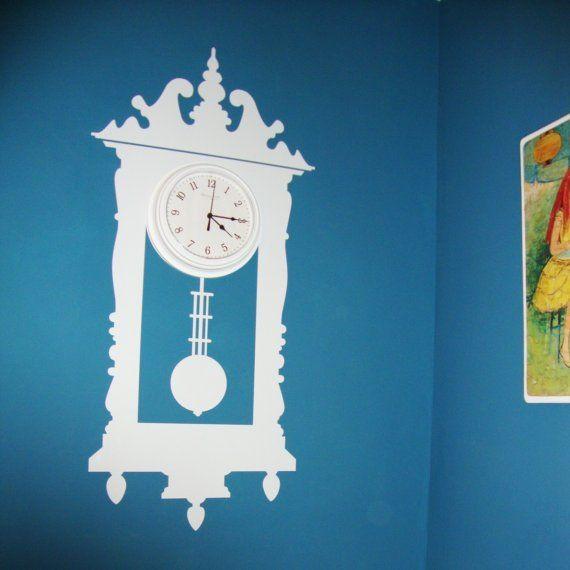 Vinyl Fruit Tic-Toc Antique Wall Clock vinyl decal in my Bella's room. Definitely one of my favorites!!