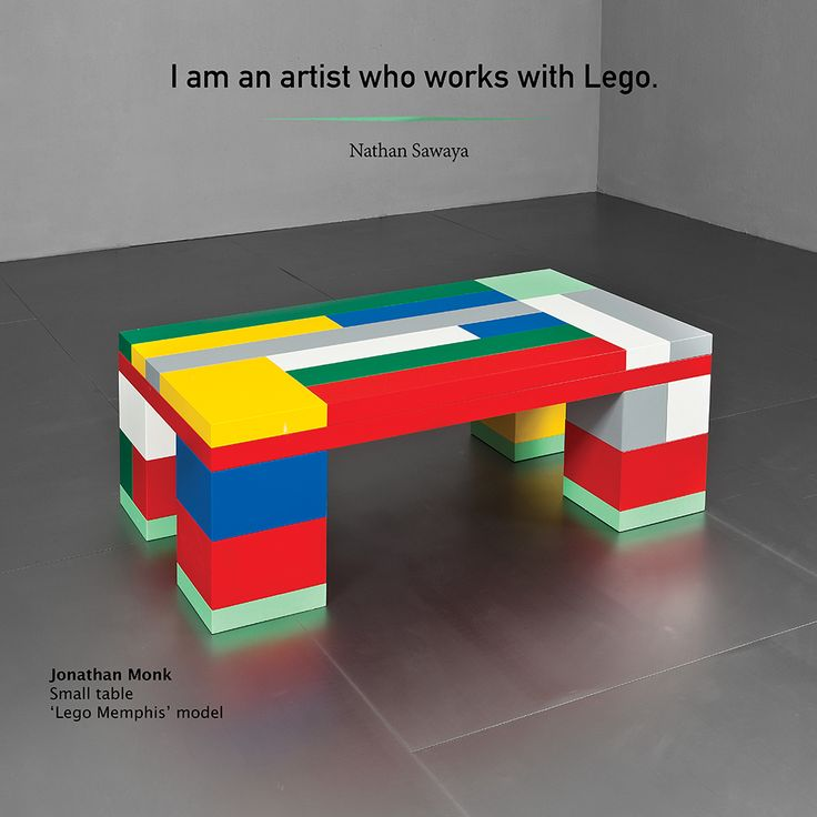 I am an artist who works with Lego