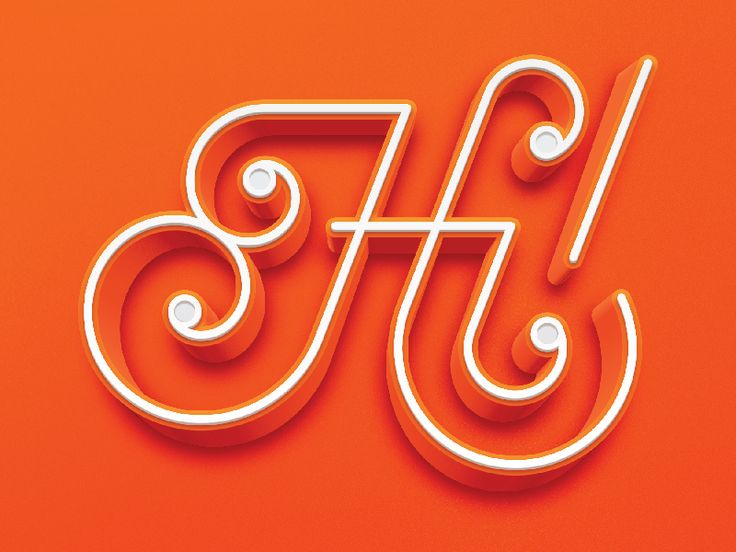 Hi! Lettering by Logan Brazeau #Design Popular #Dribbble #shots