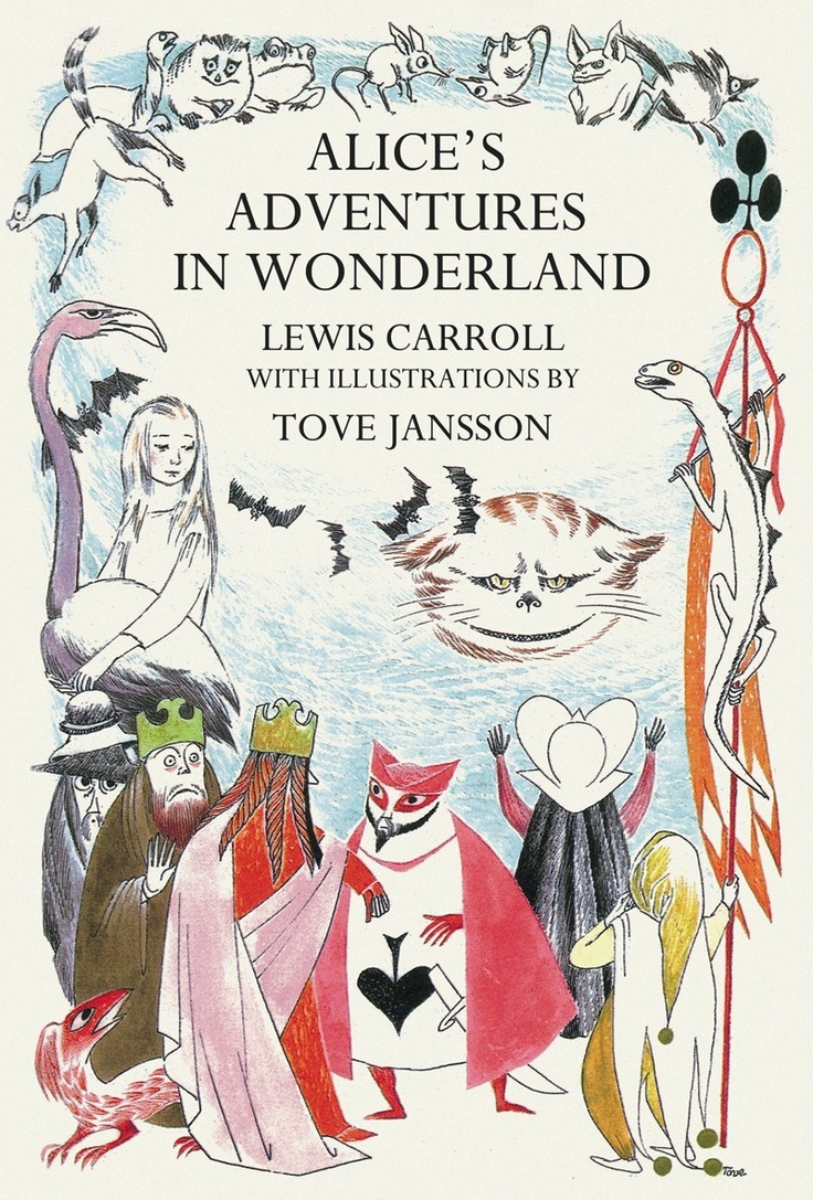 Beautifully illustrated copy of Alice in Wonderland by Lewis Carroll - illustrations by Tove Jansson