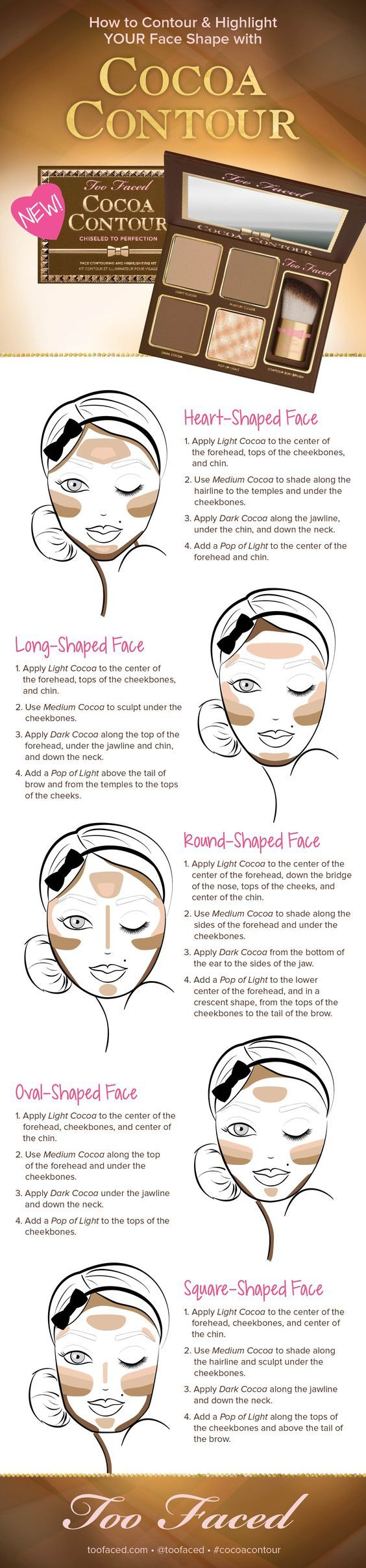 Contouring to your face shape with Too Faced Cocoa Contour Kit: