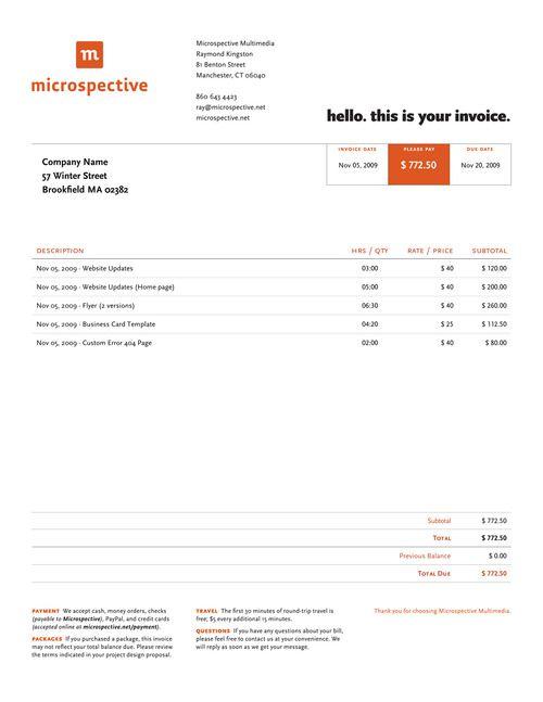 76 best Web Design QUOTATION images on Pinterest Graphics - web design invoice