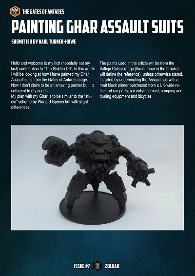 GoA Ghar Assault Suit painting guide - #thegoldend6 Issue Seven