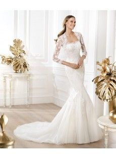 Tulle Trumpet Mermaid Wedding Dress