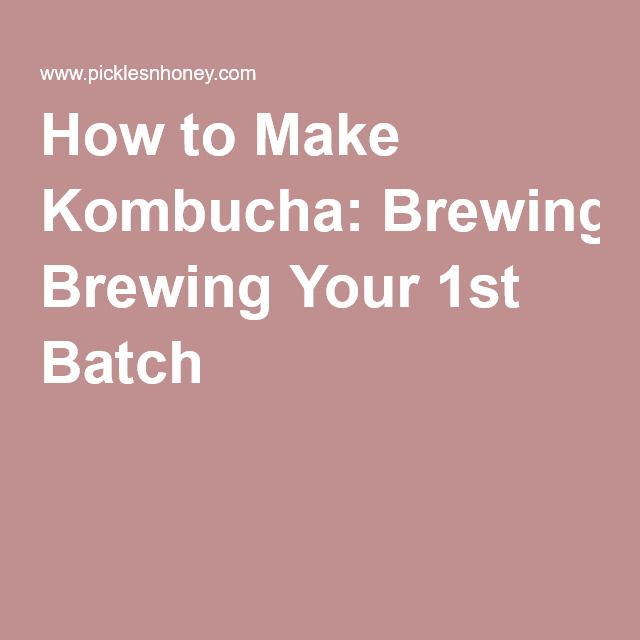 How to Make Kombucha: Brewing Your 1st Batch »
