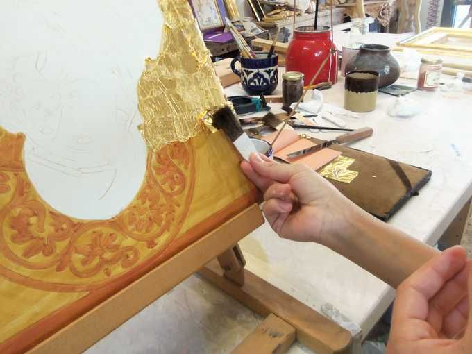 ADVANCED LEVEL WATER GILDING 80 HOURS - pure gold leaf application
