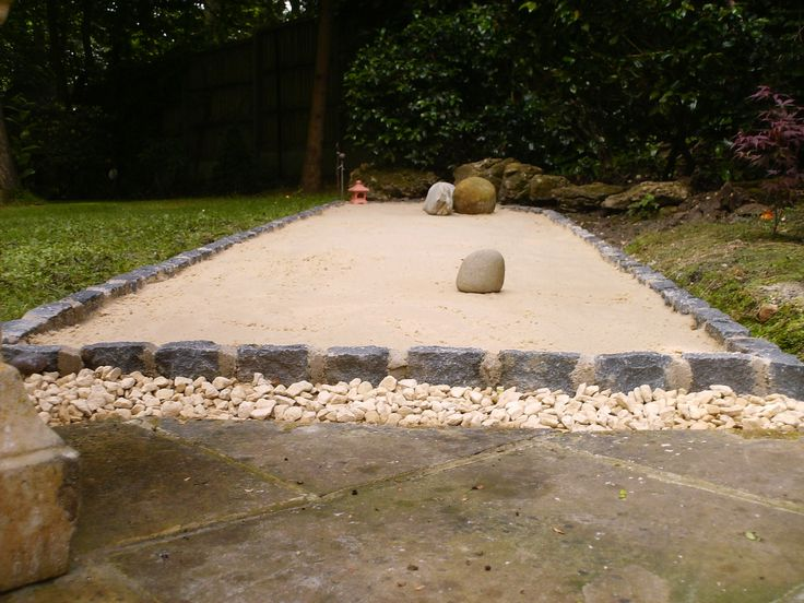 This Is My Zen Garden That I Have Designed And Built In My Rear Yard/