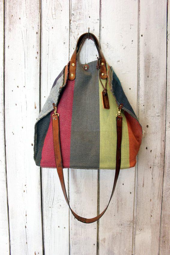 MINI ALLEGRA BAG Handmade rare and unique fabric & Leather Shopping bag\tote di LaSellerieLimited su Etsy