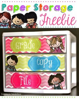 """You are downloading a set of labels for your Sterlite 3 Drawer unit to create the popular """"Grade, File, Copy"""" teacher drawers to stay organized. Need an editable version? Follow the link below for a version you can type into using PowerPoint. Editable Let's Get Organized Labels*******************************************************************************Take a peek at some products that coordinate with this set:Chevron Edition:*Let's Get Organized Set*Binder Covers*Label It*Clip…"""
