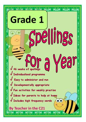 Grade 1 - Spellings for a Year {Spellings and activities for 6 year olds} from C21Teacher on TeachersNotebook.com -  - This is a full year's developmentally appropriate spelling programme for 6 year old children.  It contains targeted word lists with spelling patterns identified, and lots of fun activities to do.