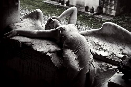 Memento mori  #photography: Sculpture, Cemetery Angels, Cemetery Art, Fallen Angel, Tear, Stone, Joy Division, Photo