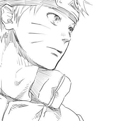 Uzumaki Naruto sketch style picture