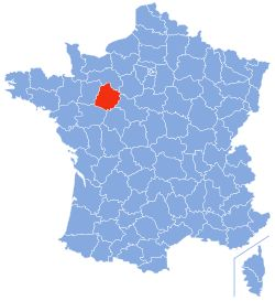 Sarthe (French pronunciation: [saʁt]) is a French department situated in the Grand-Ouest of the country. It is named after the River Sarthe, which flows from east of Le Mans to just north of Angers.