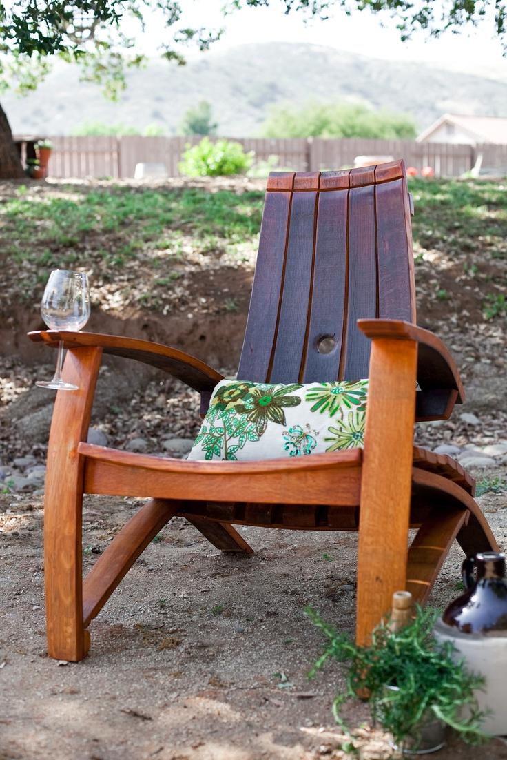 Wine barrel rocking chair - Adirondack Chair Designed By Craftsman David Brown Of The Dusty Oak Re Wine Barrelsadirondack