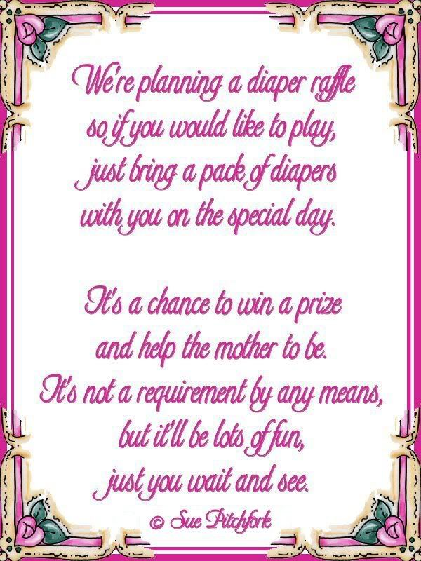 diaper wishing well poem | Poem: diaper raffle baby shower invitation (w/printable)