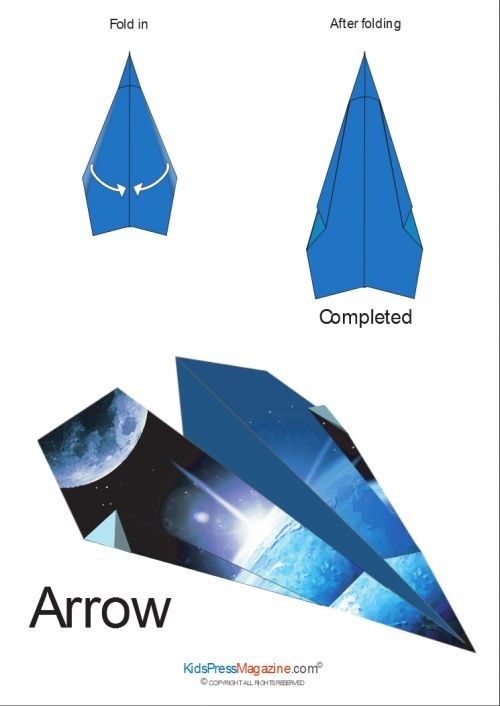 printable paper airplane instructions