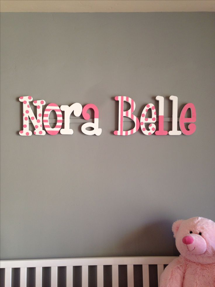 DIY painted wooden letters