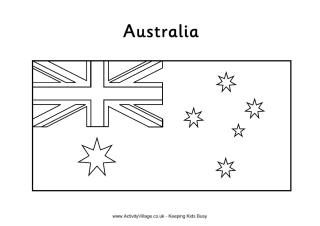 Australian flag colouring page