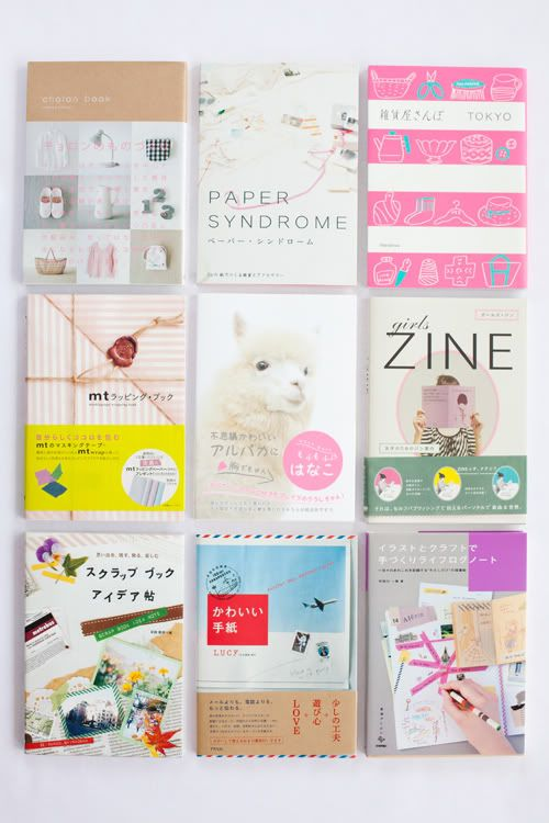 variety of coloured zines
