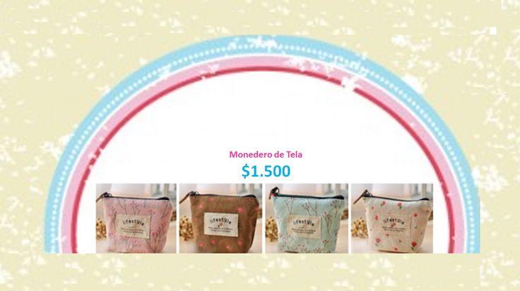 Monedero Tela. Tienda MyFavorite_4d / only beautiful things www.facebook.com/myfavorite4d