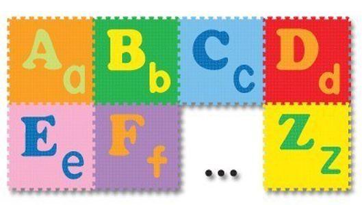 Berisi 26 Puzzle Huruf besar dan kecil dengan aneka warna. masing-masing berukuran 30x30cm. Bisa pasang menjadi alas bermain anak. Merek Evamats, Berkualitas tinggi.  Dimensi Barang Panjang: 62 cm Lebar: 33 cm