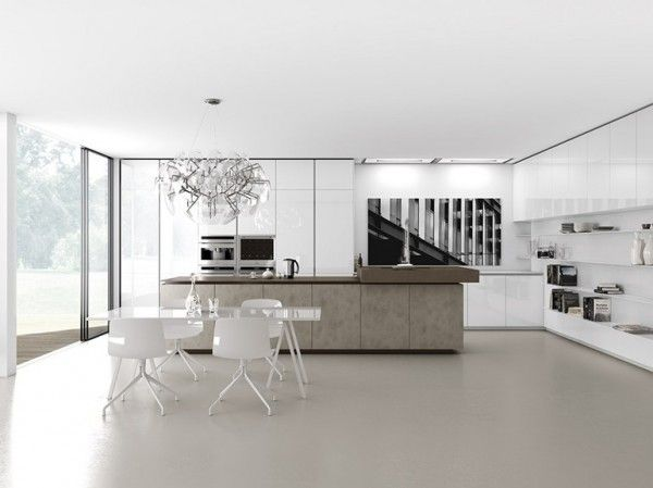Kitchen Designs, Modern Dining Room Design White Color Wall Good Dining  Room Set Long Table Part 45