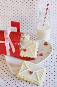 Envelope Cookies #baking #Valentine