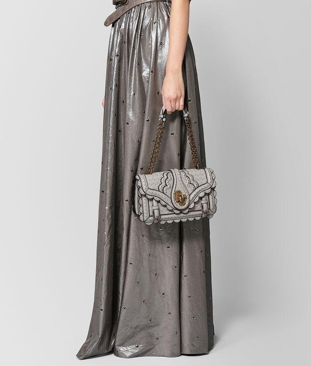 BOTTEGA VENETA BORSA CITY KNOT IN INTRECCIATO WINGTIP CEMENT Shoulder Bag  Donna fp 2c95d6302c634