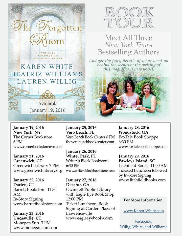 Updated book tour schedule!