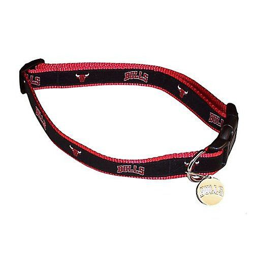Sporty NBA Chicago Bulls Reflective Dog Collar Large >>> You can get more details by clicking on the image.Note:It is affiliate link to Amazon.
