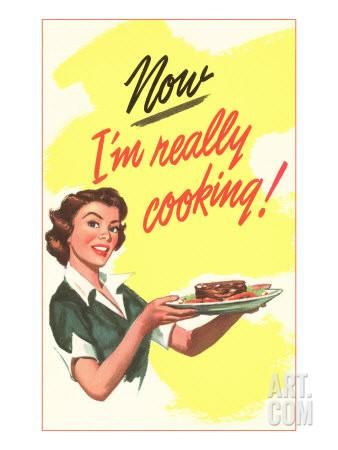 Now I'm Really Cooking! Art Print at Art.co.uk