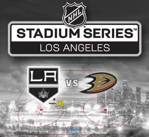 LA Kings vs. Anaheim Ducks in the Stadium Series at Dodgers Stadium