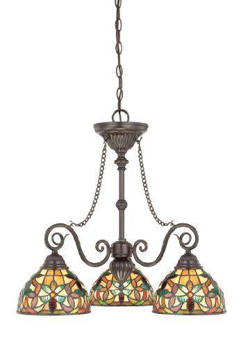 58 best chandelierslighting images on pinterest crystal lamps quoizel tfkm5103vb kami 3 light tiffany chandelier vintage bronze quoizel http mozeypictures Images
