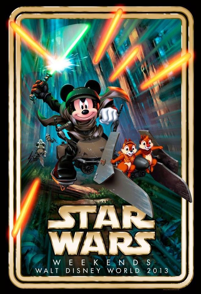 """Disney hace oficial la compra de LucasFilm, con el póster de """"Star Wars Weekends"""""""