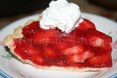 --------  Fresh Strawberry Pie  --------  my all-time favorite summer dessert!  Simple to make filling in a refrigerated pie crust.