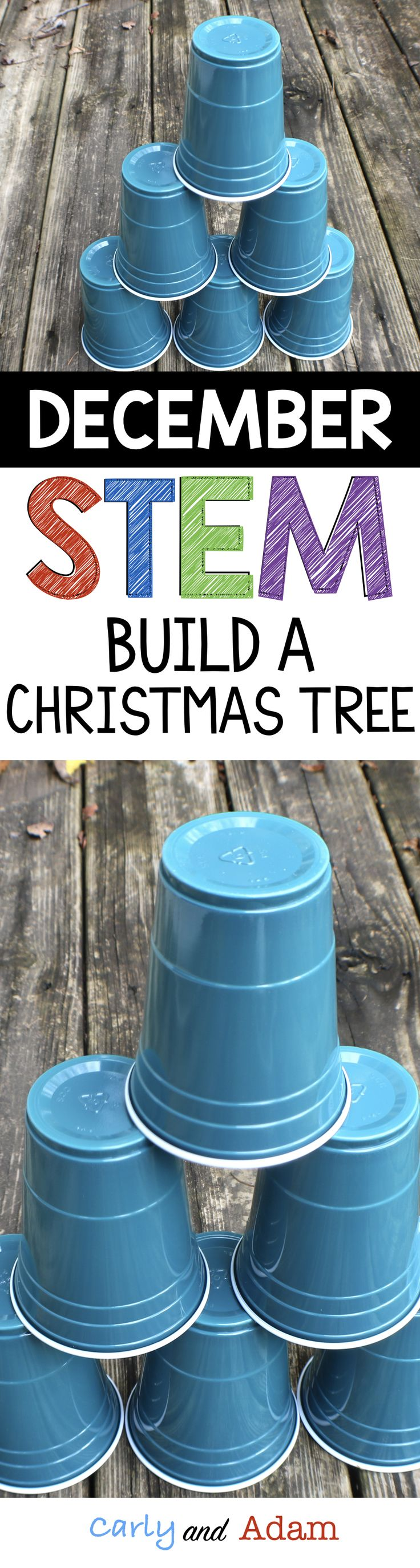 Students love completing this Christmas themed STEM challenge! The students must work together to build a Christmas tree out of cups, however they cannot touch the cups with their hands.
