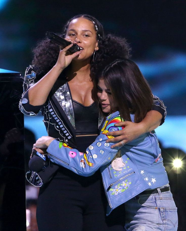 Selena Gomez News — April 27: Selena and Alicia Keys onstage at We Day...