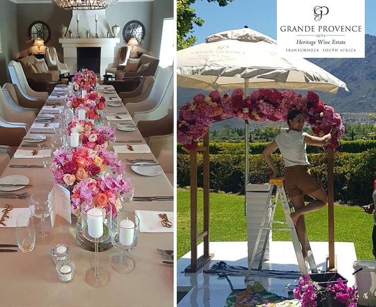 Beautiful wedding of Nicole and Florian at Grande Provence, wedding coordinated by Aleit Weddings and flowers done by Heike Fleur le Cordeur.
