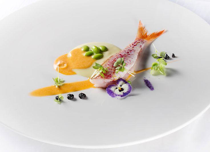 Salvatore Bianco   Triglia con crema bianca di zucchine e aglio nero   Ristorante Il Comandante - Romeo Hotel Napoli